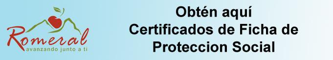 Certificado de Ficha de Protección Social
